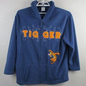 Disney Tigger Sweater Zip Jacket Fleece Plus Size